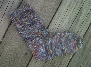 Here's the finished sock!