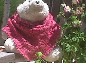 """Finished cowl made from Dream in Color """"Perfectly Posh"""" yarn."""