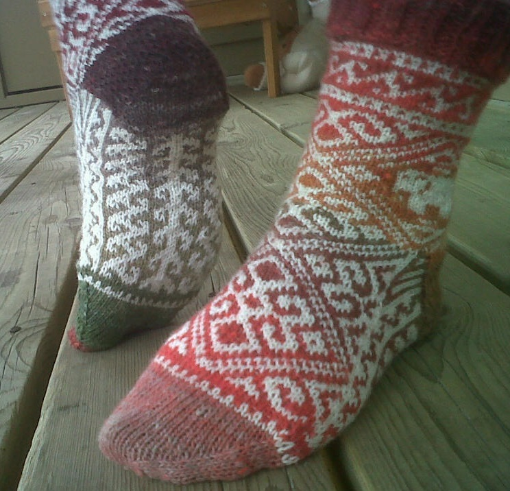 Top and bottom pattern of the sock.