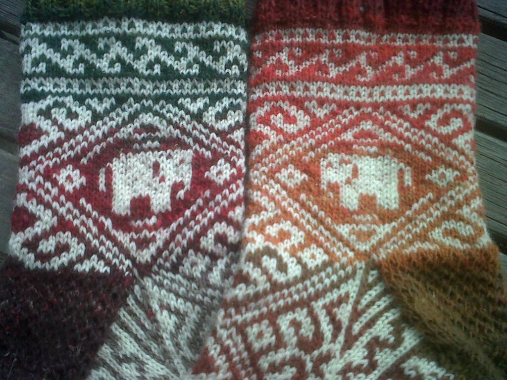 Elephant Walk Socks