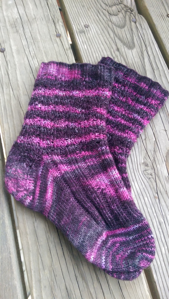 Colors on the finished sock.