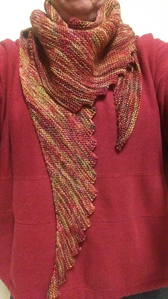 Finished scarf on author.