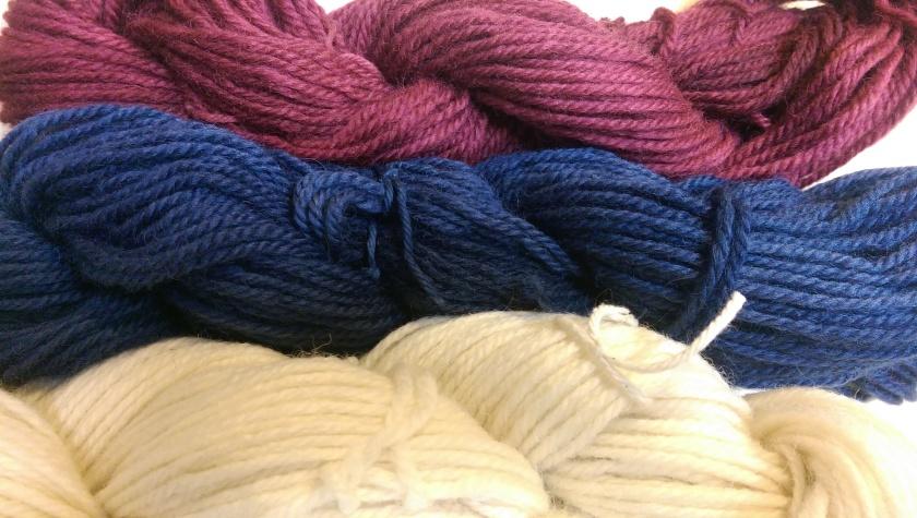 Dyed yarn.