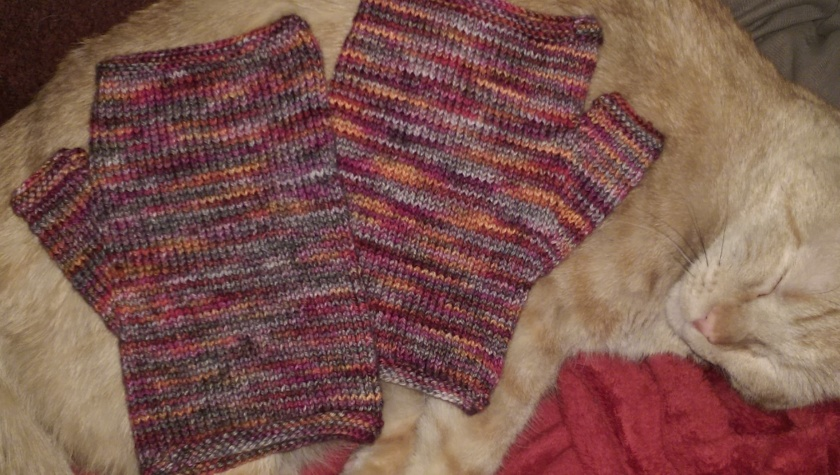 Burning Bush MItts_Stockinette