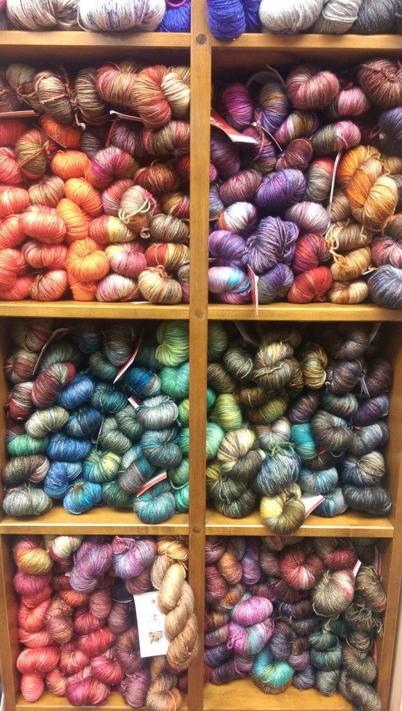 There was a whole section with newly-arrived cashmere blend yarns. Oh dear.