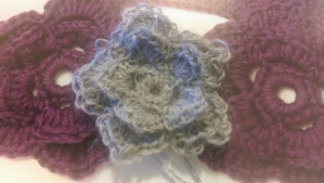 The pattern for this flower was found in Vogue Knitting Stitchionary 6.