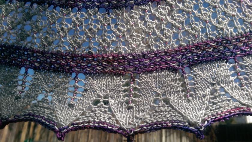 Lace on shawl.
