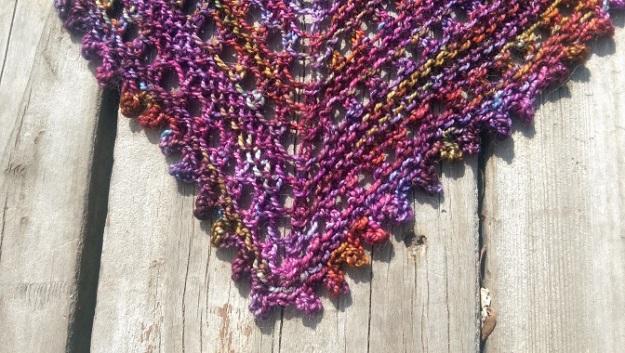 Close up of shawl.