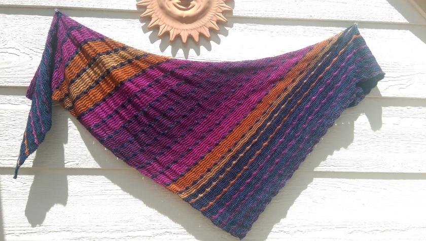 Finished shawl.