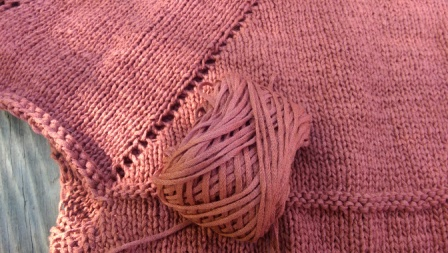 Close-up of sweater.