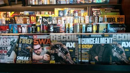Gun magazines.