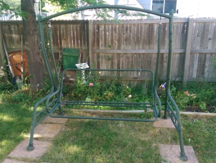 Frame for lawn swing