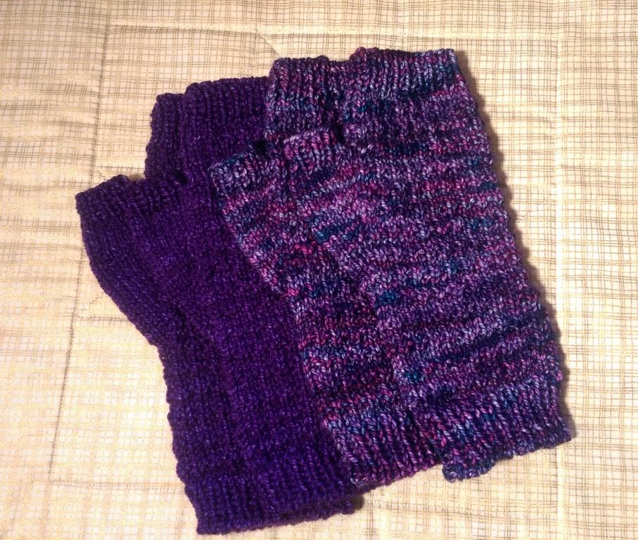 Purple Fingerless Mitts