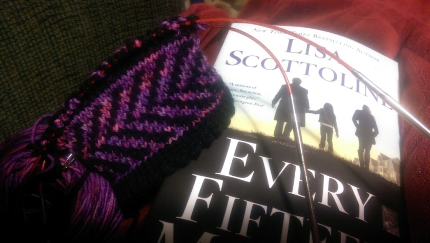 Book and knitting