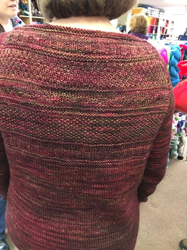 Detail of sweater back