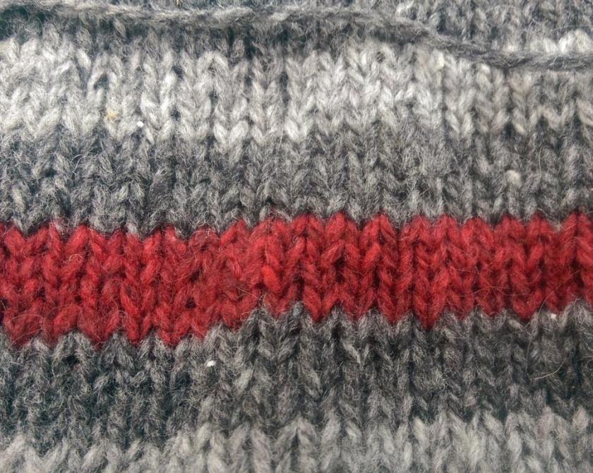 Knitting detail.