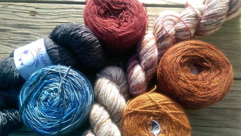 Yarns for shawl