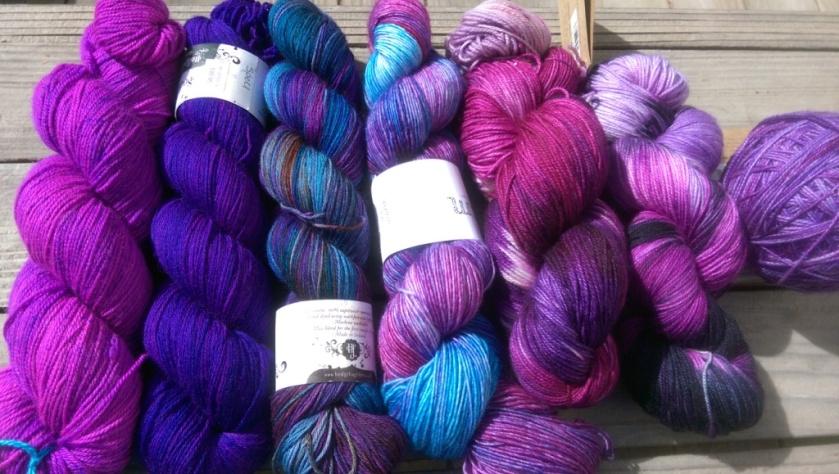 Yarns for a shawl