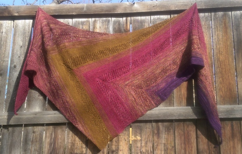 Shawl on Fence