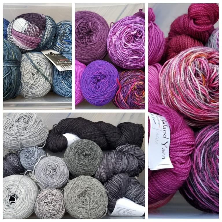 Yarn collage.