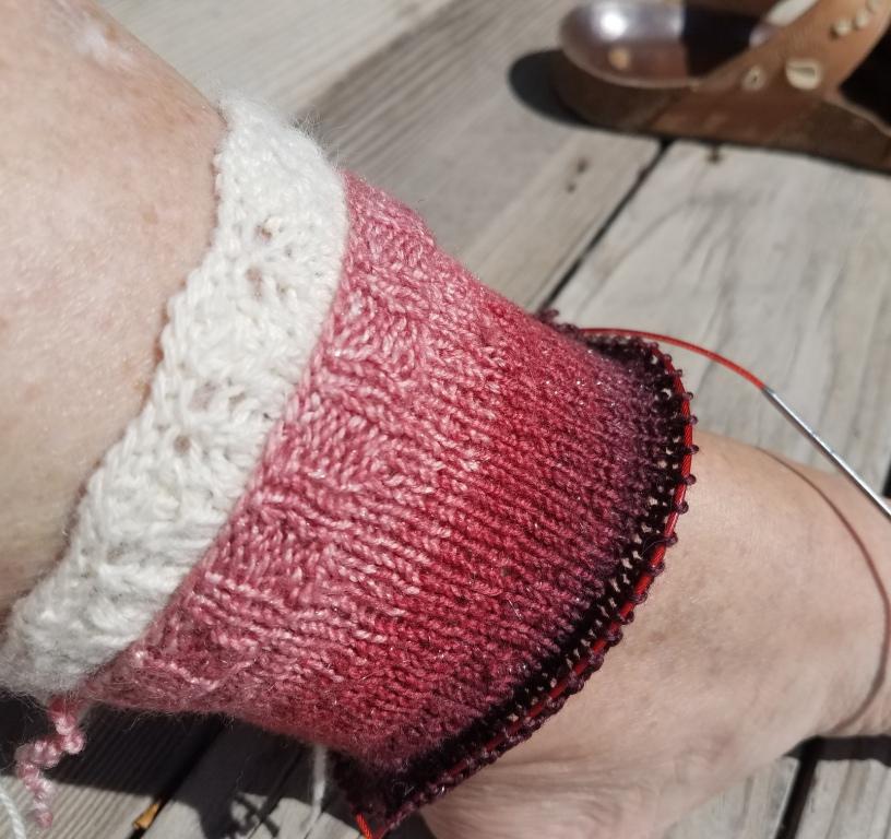 Good fitting cuff on sock.