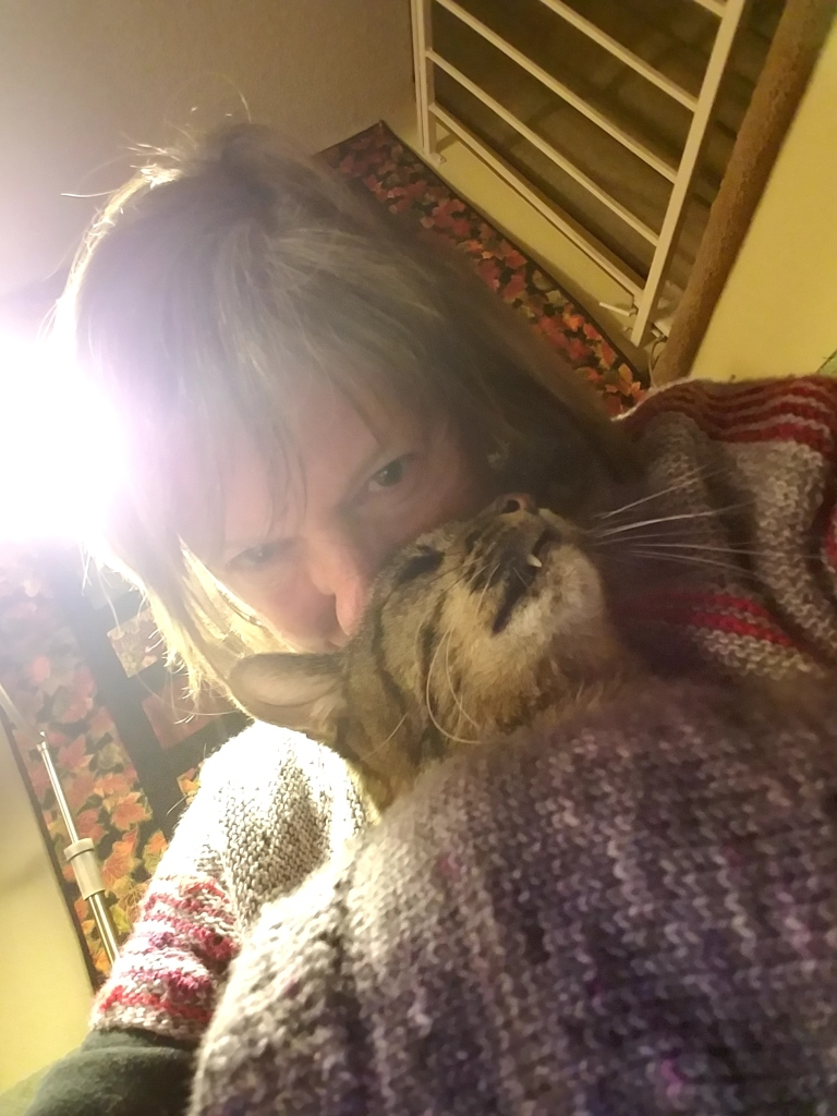 Owner and her cat.