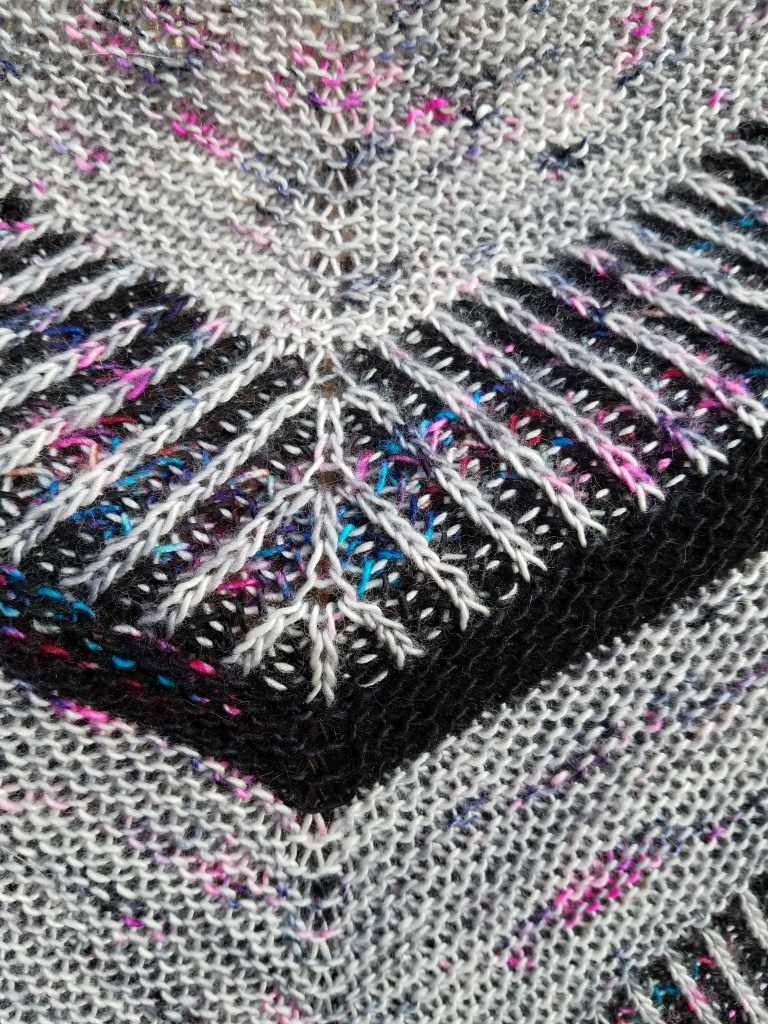 Close up of knitted fabric.
