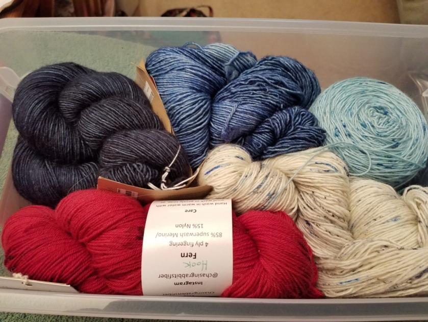 Yarn for shawl.