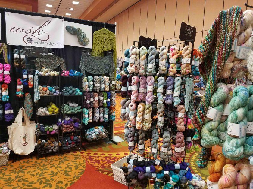 Yarn booth.