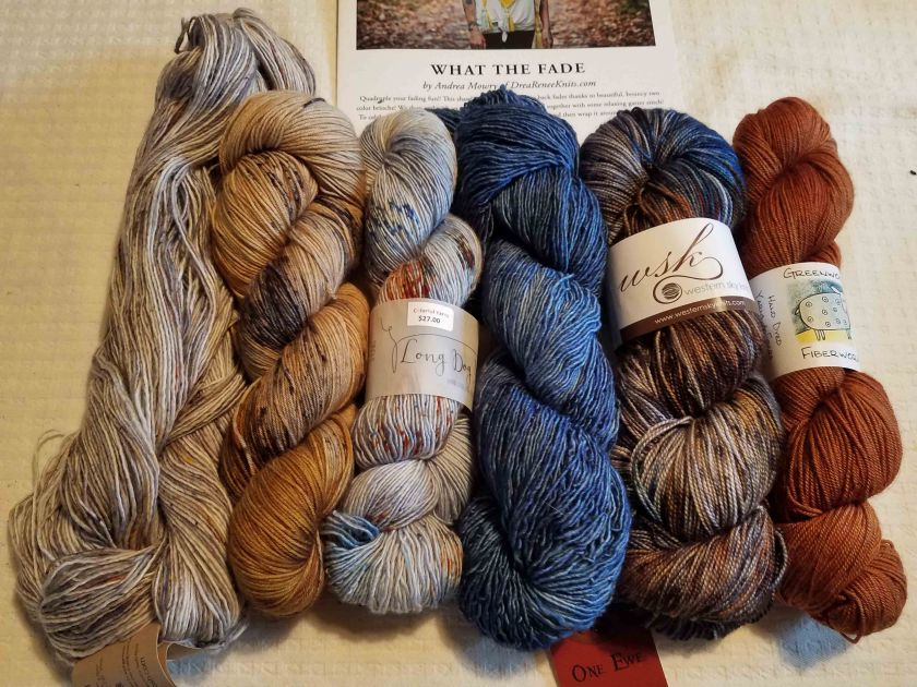 Yarn for the shawl.