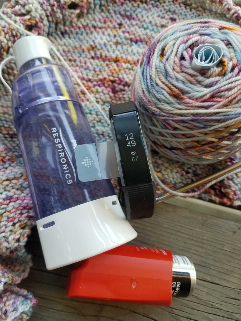 Inhaler and fitbit.