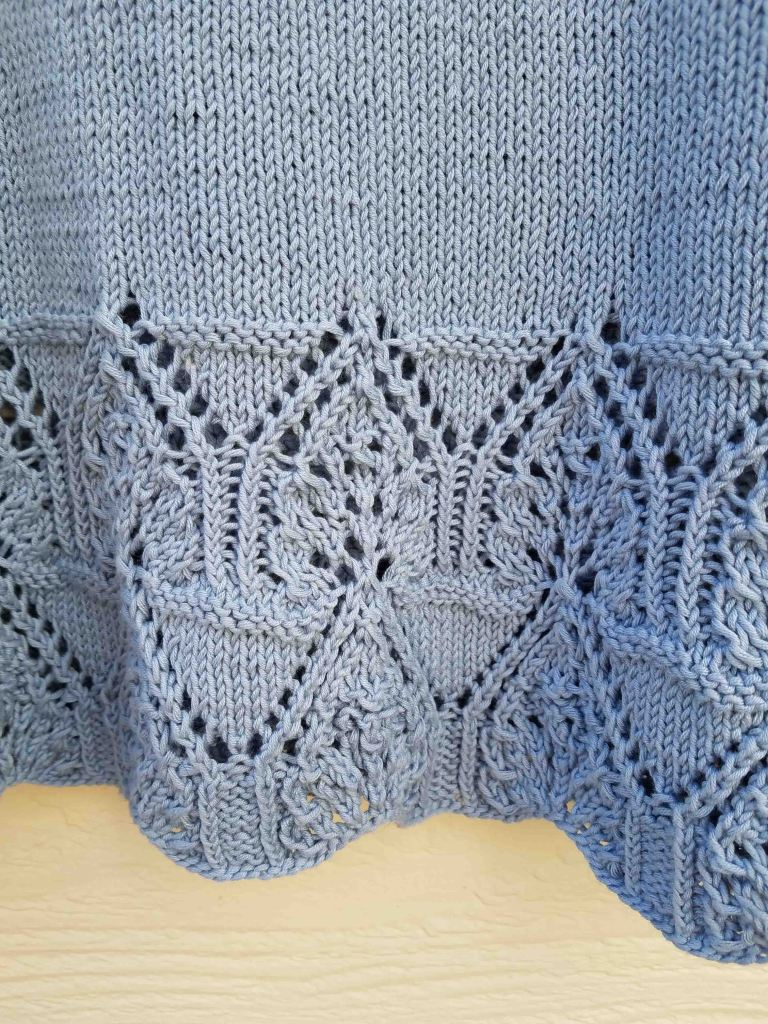 Lace detail of sweater.