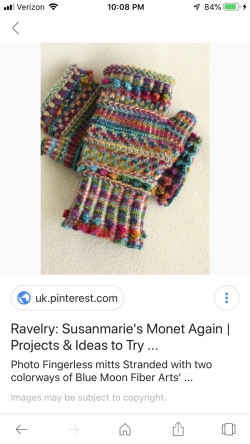 Monet Again mitts.