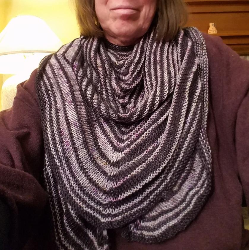 Finished shawl.