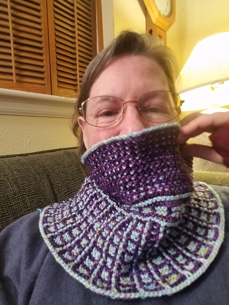 Cowl on author.