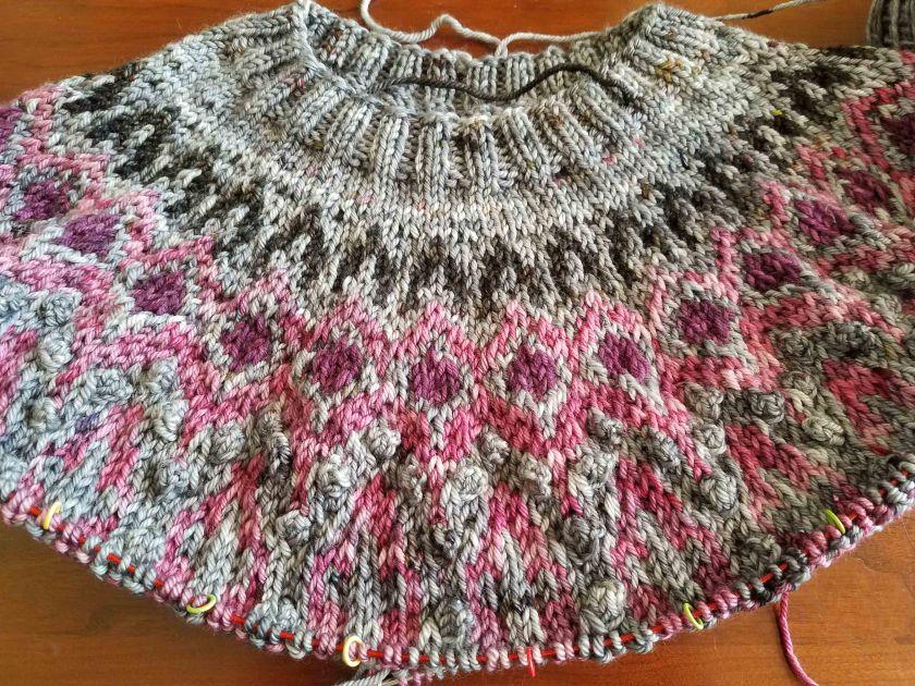 Knitted Progress.