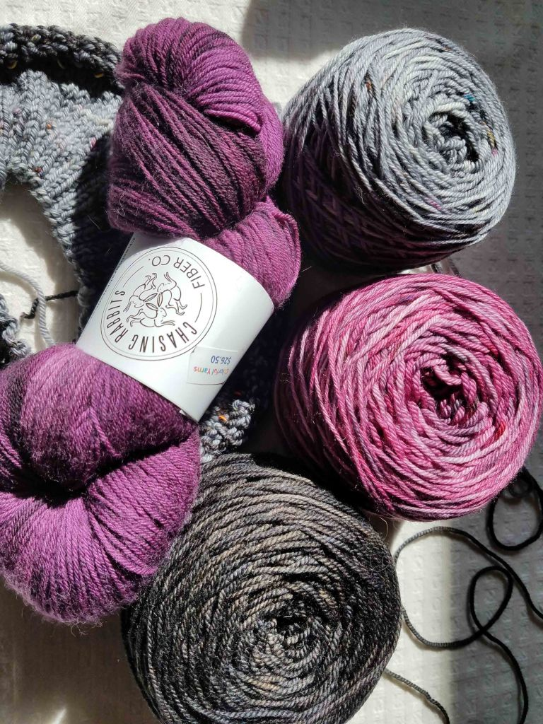 Final yarn chosen for the sweater.