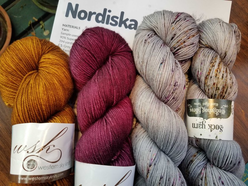 Yarn for Nordiska sweater.